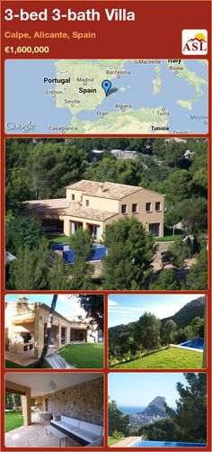 3-bed 3-bath Villa in Calpe, Alicante, Spain ►€1,600,000 #PropertyForSaleInSpain