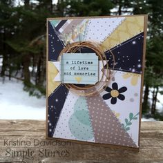 Card by design team member Kristine Davidson featuring the Heart Simple Set
