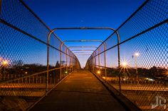 Overpass by Joe Christensen on 500px #pedestrian #bridge #Minneapolis #sunset #night #overpass #fence