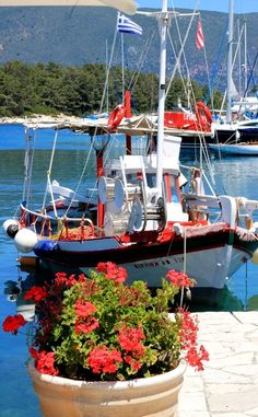 Harbour boats in Fiscardo, Kefalonia Island, Greece