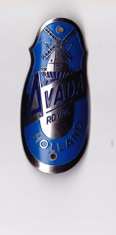 Vtg AVADA ROYAL headbadge head badge bicycle cycling bike plate Wind Mill in Collectables | eBay