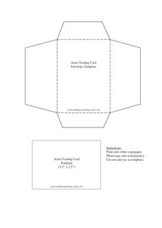 Trading Card Template Templates Printable Envelope Artist Cards Atc Google Images Zentangle Envelopes Doodles