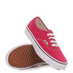 Vans Authentic Shoes - Bright Rose / True White. £47