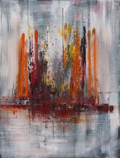 ARTFINDER: Abstract 131 - Abstract Acrylic Paint... by Mo Tuncay - Overview Handmade item Dimensions: 60x80cm   I ship my paintings with original painting packaging  worked  with brushes and paletknife , hope you like it