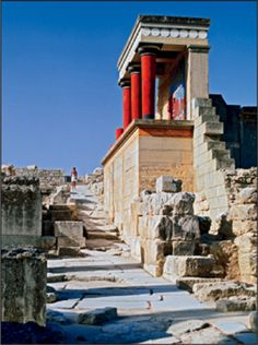 Palace of Knossos on Crete Greece