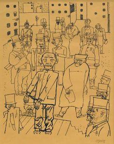 """George Grosz, """"Kein Hahn kräht nach ihnen (Nobody Cares About Them),"""" 1920 (Mildred Lane Kemper Art Museum, St. Louis)"""