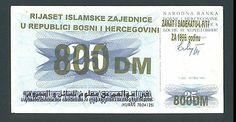 BOSNIA 800 German Mark 1996 aUNC ISLAMIC COMMUNITY - ZAKAT - RIYASET - RIJASET. http://cgi.ebay.com/ws/eBayISAPI.dll?ViewItem&item=161196511431