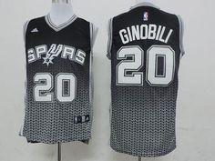 1277a5348 Spurs  20 Manu Ginobili Black Resonate Fashion Swingman Stitched NBA Jersey
