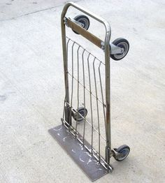 Need a moving dolly right away? It's not too difficult to transform a shopping cart into a hand truck.