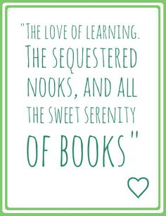 THE SWEET SERENITY OF BOOKS