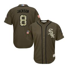 f946a5976aa Replica Chicago White Sox No.8 Bo Jackson Majestic Salute to Service Jersey  - Green