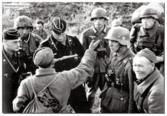 One of the Russian soldier is actually grinning. He perhaps at that stage did not realise what he was in for.
