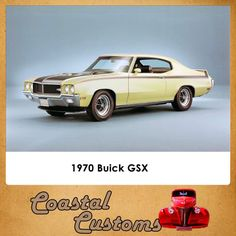 Great Cars. 1970 Buick GSX The 1970 GSX was built a top the already potent Buick GS 455 big-block coupe. The GSX was officially quoted as having 360 horsepower and a monumental 510 lb-ft of torque, although like many muscle cars, these power figures were underrated.  Contact us for more info: 044 697 7583 #custom #greatcars #buickGSX