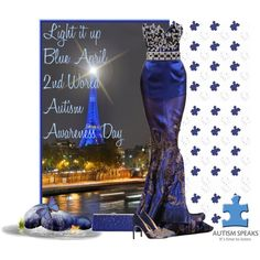 """""""Light It up Blue"""" by cindycook10 on Polyvore"""