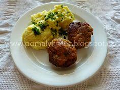 Pomalý hrnec: Karbanátky v pomalém hrnci Baked Potato, Mashed Potatoes, Crockpot, Slow Cooker, Eggs, Baking, Breakfast, Ethnic Recipes, Food