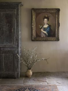Portrait of Princess Louise-Marie Stuart by Francois de Troy hanging at Duck End. How to hang Old Master paintings! Troy, Marie Stuart, Princess Louise, Stone Flooring, Old Master, Wow Products, Portrait, Old World, Find Art