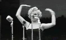 Marilyn Monroe sings to the troops in Korea, 1954