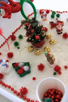 "More Christmas sensory fun ("",)"