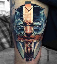 Devil tattoo by Valentina Ryabova