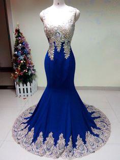 Cheap long prom dresses Buy Quality prom dresses 2016 directly from China prom dresses Suppliers: Crystals Long Prom Dresses 2016 Vestido Longo Formatura Sexy Royal Blue Chiffon Mermaid Evening Dresses Royal Blue Evening Dress, Evening Dress Long, Royal Blue Prom Dresses, Women's Evening Dresses, Prom Gowns, Evening Party, Ball Gowns, Blue Gown, Pageant Dresses