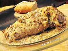 Cinta de lomo al horno con salsa de mostaza