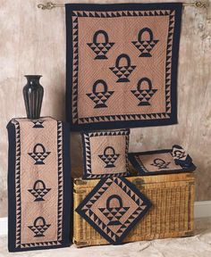 Basket Navy Off White Tea Dyed Quilts | Choices Quilts offers Basket Navy Off White Tea Dyed Quilts handmade for you! You can shop online or call us toll-free @ 1-800-572-2070 or 770-641-9700.