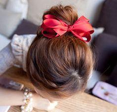 Min. ordem é de R $ 15 (ordem da mistura) 1574 2014 nova moda nó-Hide clipe multi-camada de cetim arco hairpin das mulheres