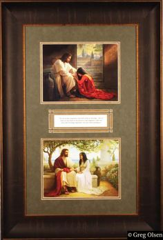 This is two of my absolute all time favorite Greg Olsen paintings. The top, is called Forgiven and the bottom, White as snow. He is such an amazing artist.