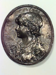 French Victorian wall plaque misc. wall item metal
