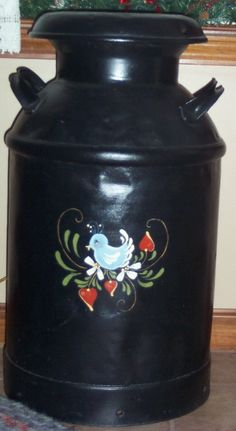 Painted milk can ...