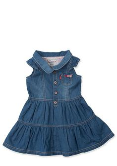 Levi's� Flutter Sleeve Drew Denim Dress