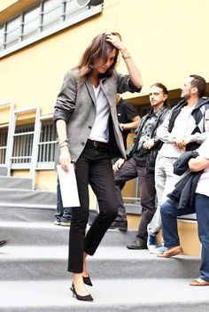So flawless! Love the pants. Emmanuelle Alt
