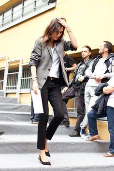 So flawless! Love the pants. Emmanuelle Alt