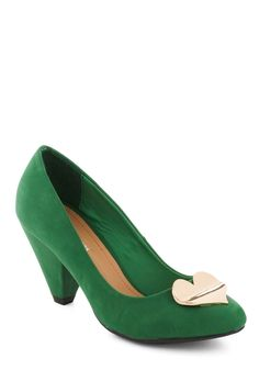 Green heart heels