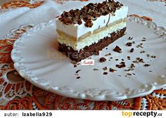 Tvarohový Rudolf recept - TopRecepty.cz Hungarian Recipes, Hungarian Food, Pavlova, Creative Food, Vanilla Cake, Nutella, Tiramisu, Sweet Treats, Deserts