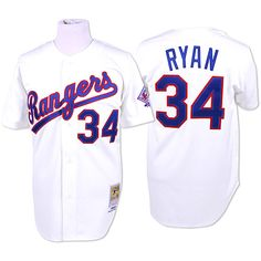 Texas Rangers Authentic 1993 Nolan Ryan Home Jersey by Mitchell & Ness - MLB.com Shop
