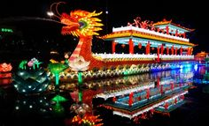 Fun, festive and colorful.  The China Pagoda Palace was impressive and so were the acrobatics, but Bella's favorite were the pandas. 2013 Chinese Lantern Festival in Dallas.