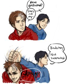 Backstory by MyDearBasil.deviantart.com on @deviantART  I call dibs on being the new girlfriend!!