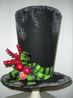 Handmade Felt Top Hat Tree Topper or Decor by VanillaBeanBakeryCo, $40.00