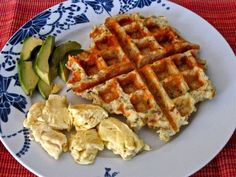 Cheesy Potato Waffles with Garlic and Chives (gluten free)