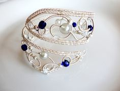 love this!!! wire wrapped cuff bracelet