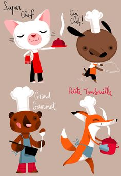 Cute illustrations by Little Moutarde