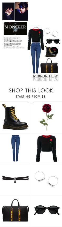 """Monster"" by alva01 ❤ liked on Polyvore featuring Dr. Martens, County Of Milan, Fallon and Fendi"