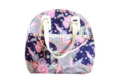 Boho Eclectic Round Satchel Bag with Floral by CanYouComeHome, $78.00