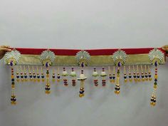 Diwali Decorations At Home, Festival Decorations, Flower Decorations, Gold Kangan, Diy And Crafts, Arts And Crafts, Diwali Craft, Door Hangings, Art N Craft