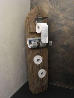 45 Creative DIY Toilet Paper Holder and Storage Ideas for Your Bathroom Diy Toilet Paper Holder, Toilet Roll Holder, Home Decor Items, Diy Home Decor, Rustic Renovations, Rustic Toilets, Guest Toilet, Pinterest Diy, Diy Bathroom Decor