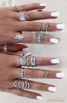 #nails #white #beach #accessories