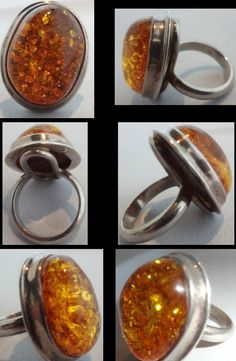 Amber, you are worth it!  Sterling and Amber ring.  $39