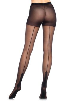 Leg Avenue Sheer Havana Heel Pantyhose In Black Edm Outfits, Pin Up Outfits, Trajes Pin Up, Pin Up Kleidung, Retro Pin Up, Stockings Lingerie, Leg Avenue, Pantyhose Legs, Couture