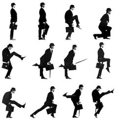 John Cleese from Monty Python and the Ministry of Silly Walks Diagram (always has been the best, always will be). Monty Python, Space Ghost, Funny Walk, Alexander Technique, The Blues Brothers, Vevey, Fear Of Flying, British Comedy, British Humor